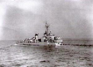USS Small steaming bowless and backwards